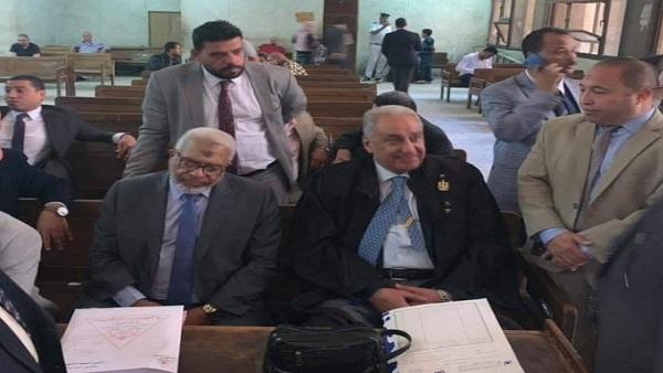وصول نقيب المحامين محكمة مدينة نصر لترأس هيئة الدفاع عن أبو العلا مكي (صور)