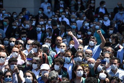 احتجاجات المحامين في اسطنبول 30 يونيو - فرانس برس